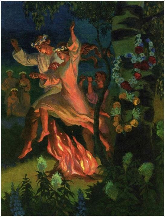 Beltane fire celebration
