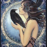 Scrying mirror painting