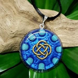 turquoise orgonite crystal healing pendant
