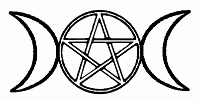 wiccan symbol triple moon