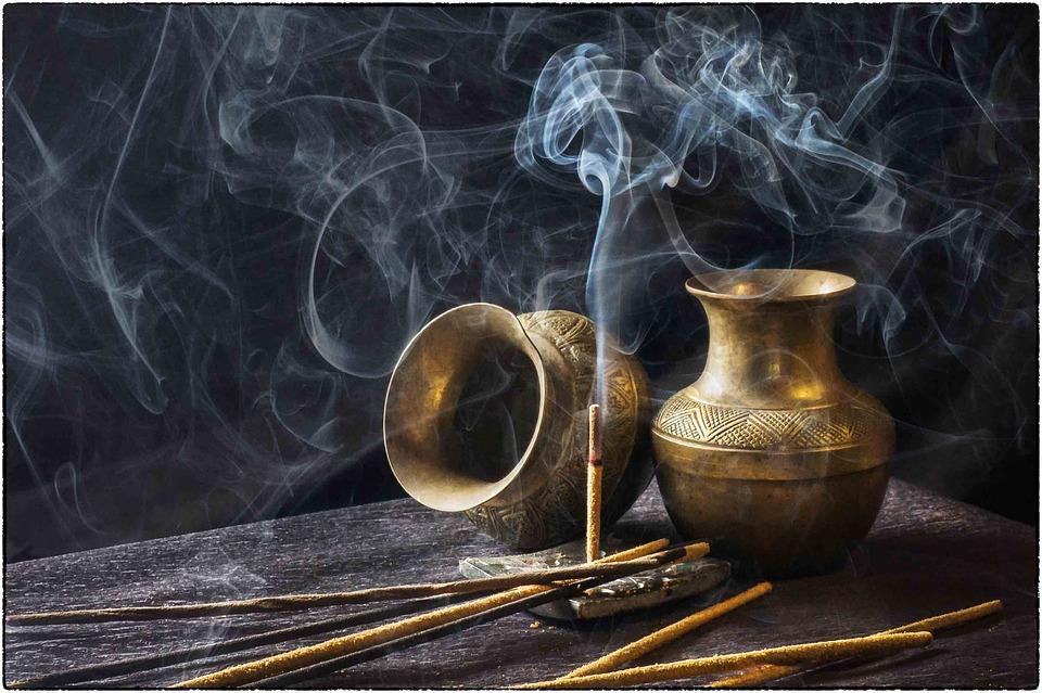 wiccan altar - incense