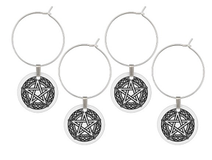 wine charms gift for a witch
