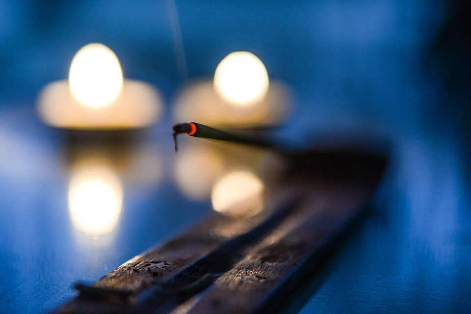 candles and incense - anti-sadness rituals