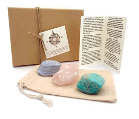 healing crystal set- gift for wiccan