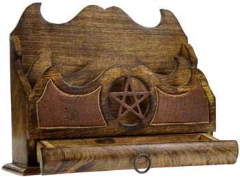 pentagram letter holder - gifts for witches