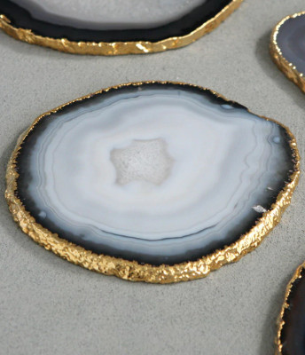 wiccan gift - agate coasters