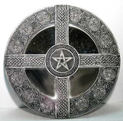 altar pentacle tile for wiccan spells and magick