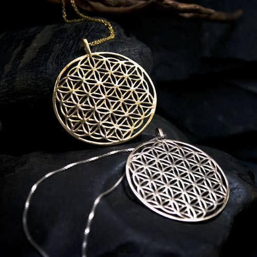 ka gold flower of life amulets