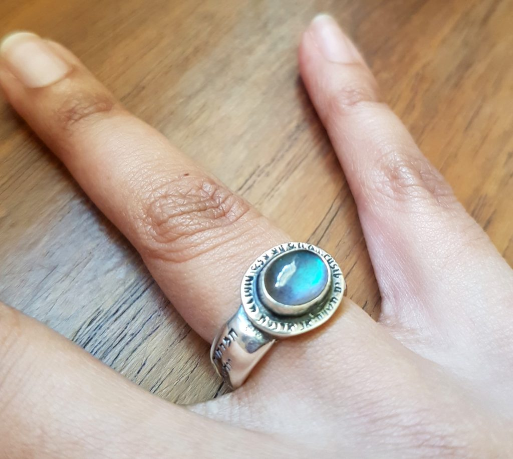 ka gold talisman amulet ring