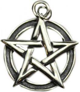 sterling silver pentagram necklace