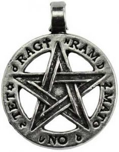 divine protection pentagram pendant