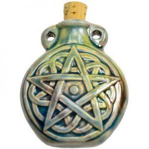 pentagram bottle pendant