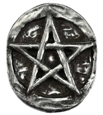 pentagram pocket stone wiccan gift